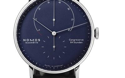 德国NOMOS推出新款Lambda深蓝色白金腕表