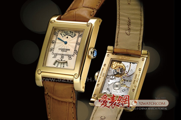 Cartier 卡地亚巴黎经典系列跳时日历腕表  (点击图片翻页)