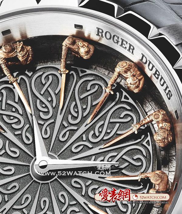 罗杰杜彼 稀世之作Table圆桌骑士腕表  (点击图片翻页)