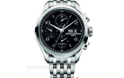 名士表克里顿系列黑色计时腕表 展示都市时尚气质