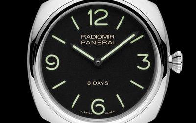 沛纳海极简新风格 Radiomir 8日动力储存腕表