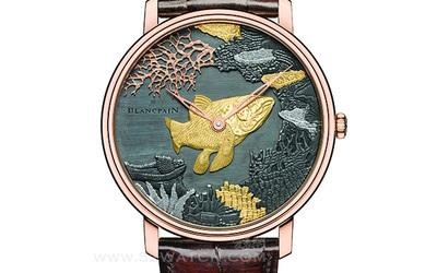 宝珀打造专属艺术品Shakudō 赤铜雕绘腕表