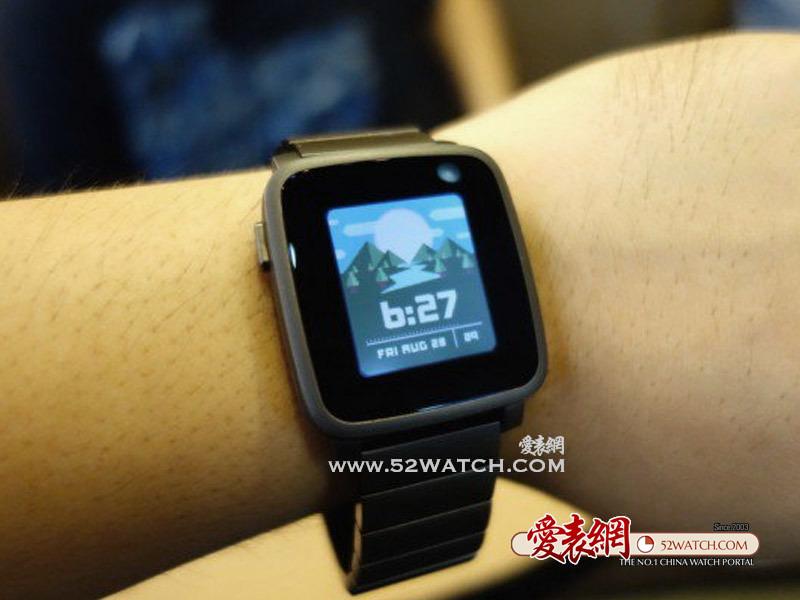 上手点评:冷感Pebble Time Steel智能手表