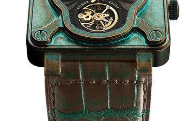 柏莱士 手工雕刻纯金骷髅腕表