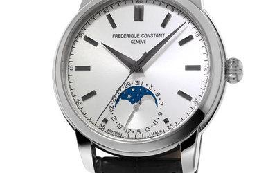 康斯登典雅自家機芯月相系列腕表