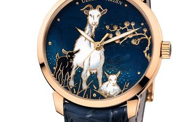 雅典表展示大师级彩绘腕表
