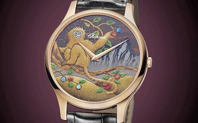 猴年呈獻 蕭邦L.U.C XP 金猴摘桃腕表