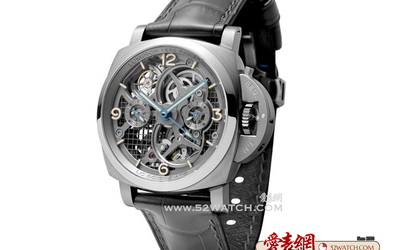 沛纳海 Luminor 150 Tourbillon GMT Titani 伽利略致敬版本