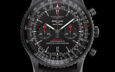 百年灵全新航空计时46黑钢腕表