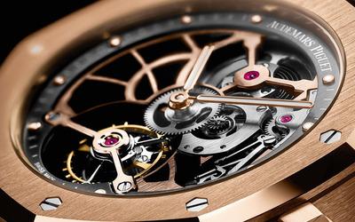 爱彼全新皇家橡树系列超薄镂空陀飞轮腕表