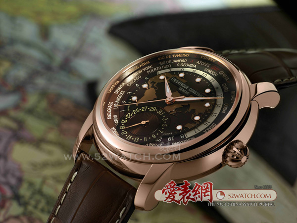 康斯登全新典雅自家机芯世界时区腕表