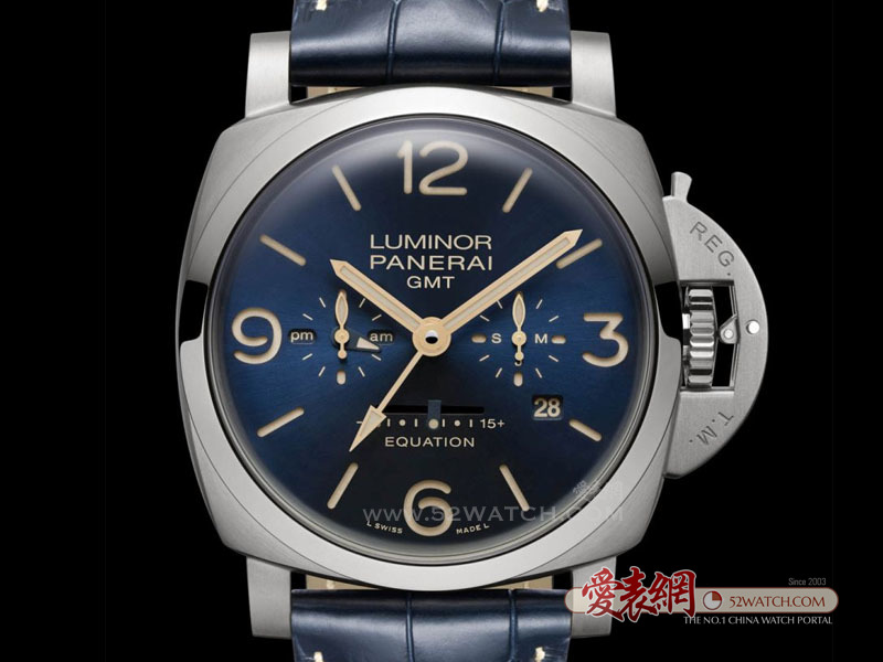 沛纳海推出Luminor 1950 8日动力储存两地时间腕表