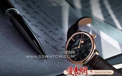 康斯登新品超薄月相自家機芯腕表