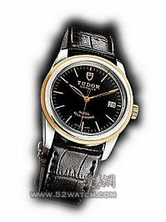 55003-Shiny black leather strap