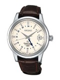 精工SBGM003J白盘棕色表带(SBGM003J白盘棕色表带)手表报价资料